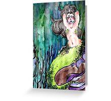 Body posi mermaid! Greeting Card