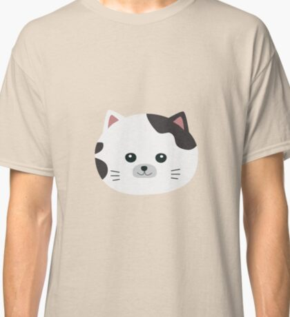White Cat with spotted fur Classic T-Shirt