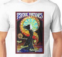 PSYCHIC FORTUNES; Vintage Fortune Teller Print Unisex T-Shirt