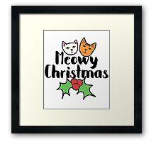 Meowy Christmas Framed Print