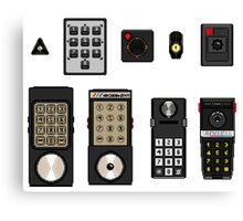 Second Generation Console Controllers Canvas Print