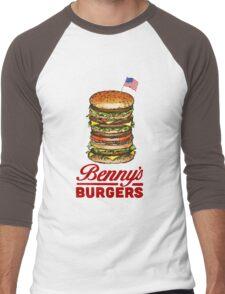 Original Benny's Burgers Stranger Things Eleven Cosplay Shirt Men's Baseball ¾ T-Shirt