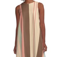 Drinking coffee with dessert color design by MrN A-Line Dress
