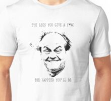 """The less you give a f*%c the happier you'll be"" Unisex T-Shirt"