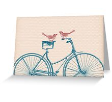 Birds on a Bicycle Greeting Card