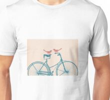 Birds on a Bicycle Unisex T-Shirt