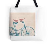 Birds on a Bicycle Tote Bag