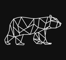 Geometric Bear - White One Piece - Short Sleeve