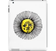 OLD SUN, STAR, engraving, etching, historic, history iPad Case/Skin