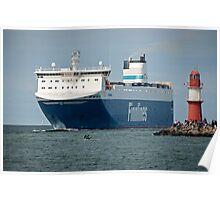"Finnjet ferry Finnsea"" arriving at Rostock Germany 2016 Poster"