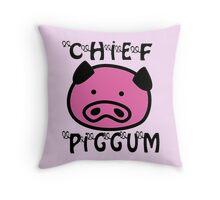 CHIEF PIGGUM Throw Pillow