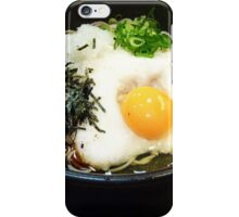 Raw egg on soba iPhone Case/Skin