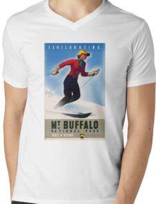 Australia Mt. Buffalo Vintage Travel Poster Mens V-Neck T-Shirt