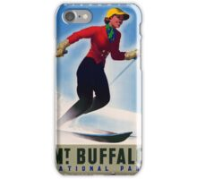 Australia Mt. Buffalo Vintage Travel Poster iPhone Case/Skin