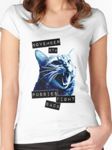 November 8th Pussies Fight Back Women's Fitted Scoop T-Shirt