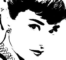 Audrey Simply Beautiful in Black and White by Saundra Myles