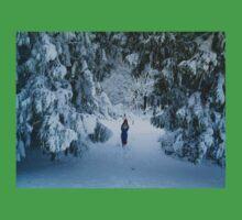 WINTER WONDERLAND GROTTO IN DEVON GARDEN AFTER SNOW Baby Tee
