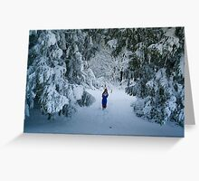 WINTER WONDERLAND GROTTO IN DEVON GARDEN AFTER SNOW Greeting Card