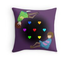 Undertale Frisk and Chara Throw Pillow