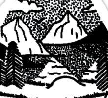 Light Bulb Mountains Sticker