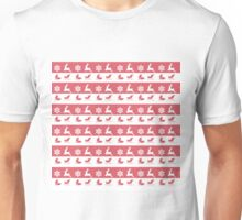 Christmas , Red and White Pattern Unisex T-Shirt