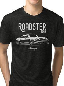 Roadster team. Mazda MX5 Miata (NB) Tri-blend T-Shirt