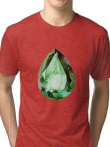 Emerald Stone in Watercolor Tri-blend T-Shirt