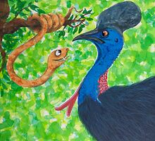 Edgar Taipan meets Cassowary by Monica Batiste