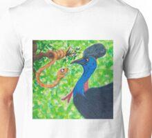 Edgar Taipan meets Cassowary Unisex T-Shirt