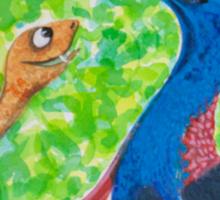 Edgar Taipan meets Cassowary Sticker