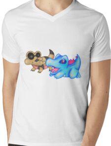 Best Buds (Sandile and Totodile) Mens V-Neck T-Shirt