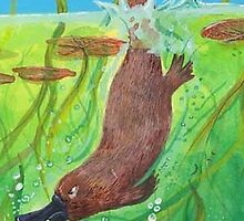 Cranky Platypus (small size) by Monica Batiste