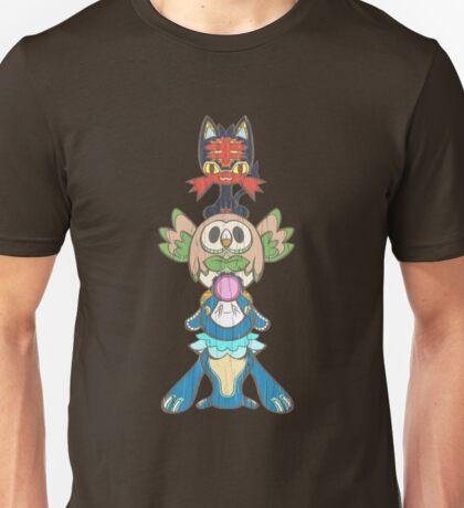 Alola starter Totem pole   Unisex T-Shirt