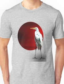 Red Moon Crane Unisex T-Shirt