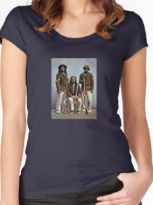 1900 US Army Apache Indian Scouts Women's Fitted Scoop T-Shirt