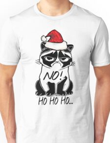 Sad Christmas Cat Unisex T-Shirt