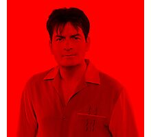 Charlie Sheen - Celebrity (Square) Photographic Print
