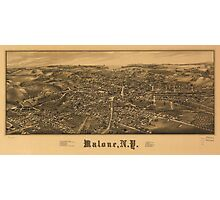 Aerial View of Malone, New York (1886) Photographic Print