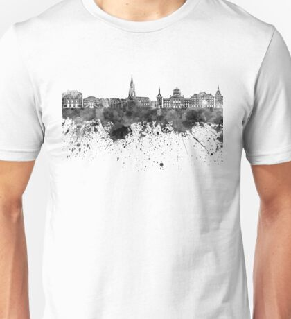 Bern skyline in black watercolor Unisex T-Shirt