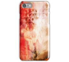 Abstract Painting Geometric Splash Red Green Brown iPhone Case/Skin