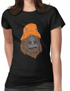 Sassy and the Orange Hat Womens Fitted T-Shirt