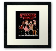 Stranger Than Things Tee T-Shirt Framed Print