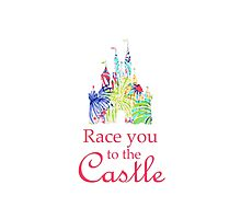 Race You to the Castle Photographic Print