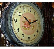 Clock - in Antique Store - Trentham Vic.  Photographic Print