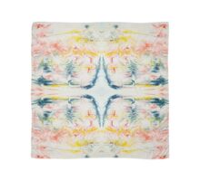 Vibrant ink feather pattern marbled design Scarf