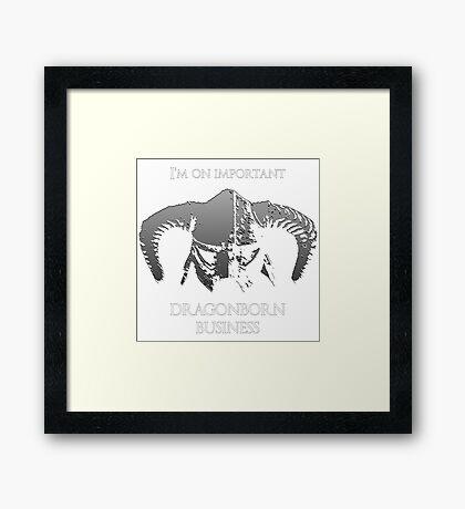 Skyrim | Dragonborn Business Framed Print