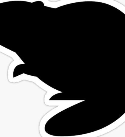 Beaver Silhouette Sticker