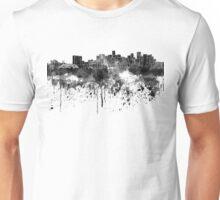 Denver skyline in black watercolor Unisex T-Shirt