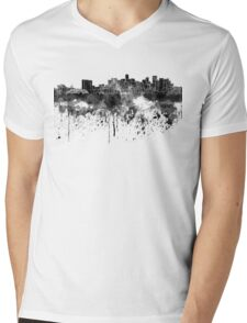 Denver skyline in black watercolor Mens V-Neck T-Shirt
