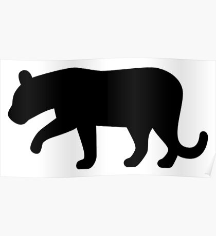 Black Panther Silhouette Poster